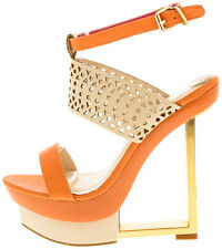 NEW Colorful Cut Out Open Toe Platform Gladiator Wedge High Heel Sandal Size W35