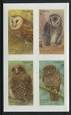 2016 Owls!  Guardians of The Night - Block of 4 Booklet Stamps