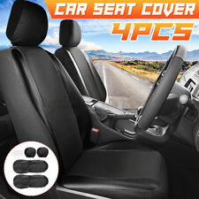 4pcs Universal Black Auto Seat Covers Front Headrests Full Set For Car Truck