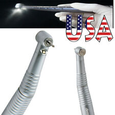 USA 4 H Dental High Speed Fiber LED Handpiece Non-Slip Triple Spray Fit KAVO NSK