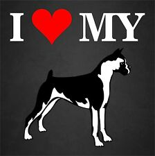 I Love My Boxer Dog Rescue Adopt Truck Window Decal Sticker Pet Animal Lover