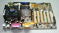 Asus P4B REV:1.03 Socket 478 Motherboard W/ P4 1.5GHz CPU+Heatsink.#TQ121
