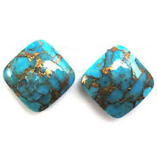 AAA Quality 15 Pc Blue Copper Turquoise 14x14 MM Cushion Cabochon Loose Gemstone