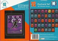 Olympics 38 Pictogram POSTCARDS SET ~ ~Post Cards London 2012 games playing ball
