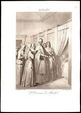santino incisione acquatinta 1800 S.VINCENZO DE PAOLI