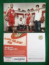 6343 Advertising Pubblicita' Cartolina Card 15x10 cm - OLIMPIA MILANO BASKET