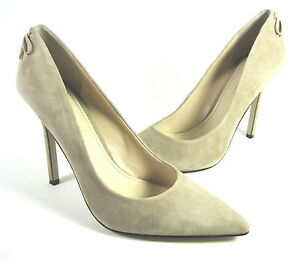 ENZO ANGIOLINI WOMEN'S CIMINO PUMP TAUPE SUEDE US SIZE 7.5 MEDIUM (B)M PRE-OWNED