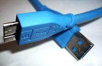 USB 3.0 Kabel Anschlusskabel 1m blau micro B Stecker ST Verbindungskabel HDD