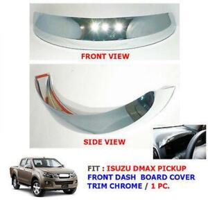 Fit Isuzu 12 13 14 D-Max Dmax Meter Ring Gauge Dash Cover Trim Chrome Ute Pickup