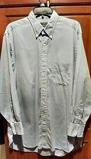 Mens GITMAN BROS Blue Button Down Collar DressShirt 16 1/2-33  Cotton Oxford EUC
