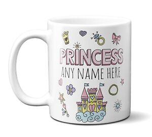 Personalised Any Name Girls Girl Princess Coffee Mug Gift 11oz Ceramic