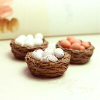 1Pc Resin Craft Mini Bird Nest Fairy Garden Miniature Decor Mini Landscape fw