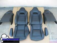 14-17 GM CHEVY CORVETTE Z06 C7 OEM BLACK LEATHER SEATS COVERS WHITE STITCHING