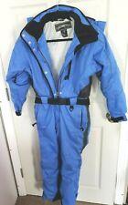 Oberymeyer Full Body Snowsuit Womens Petite sz 6 Blue Black 1 Piece Ski Suit