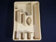 New listing Vintage Rubbermaid Silverware Tray Harvest Gold Small Spoon Shape 2921