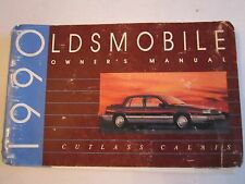 1990 OLDSMOBILE CUTLASS CALAIS OWNER'S MANUAL - LARGE BOOKLET - TUB BB-3