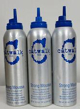 Tigi Catwalk Strong Mousse 6.5 oz PACK OF 3 ( dented)