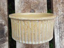 New listing Vintage Natural Beige Zanesville Stoneware Terra Cotta / Clay Bonsai Plant Pot.