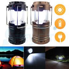 Brillante Linterna solar recargable LED Camping Senderismo lámpara Luz de tienda
