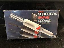 Vintage Orange Hair Dryer Retro Supermax Gillette In Box