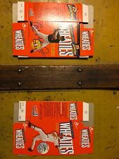 LOT OF 2 75 YEARS OF CHAMPIONS WHEATIES BOXES RIPKEN MCGWIRE