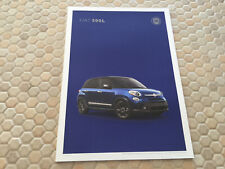 FIAT 500X & FIAT 500L JOINT PRESTIGE SALES BROCHURE USA EDITION 2017
