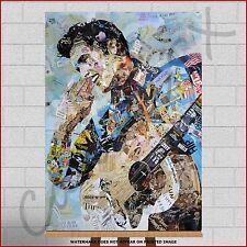 Elvis Presley The King Large Framed Canvas Print Picture Photo Montage Wall Art