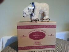 STEIFF  POLAR  BEAR ON WHEELS CLUB LTD EDITION MOHAIR.SALE FROM £199 TO £155.