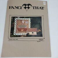 Vintage Fanci That NOAH'S FOLK ART No. 74 with FABRIC and 30 Plus Skeins Floss