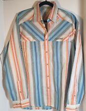 SCHOFFEL Mens Button Front Shirt Size XL EU 46 Long Sleeve Striped Dress Shirt