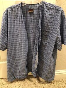 USED Men's Cambridge Classics Pj Set Medium Blue Short Sleeve Shorts Rare Button