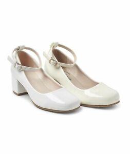 Girls SHOE Block heels Shoe Holy communion, Flower girls Bridesmaid SHOE