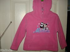 GIRL PINK FLEECE HOODED MINNIE MOUSE SIZE XXS PREOWNED