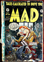 MAD Magazine #5 - No back cover - One of the hardest MAD COMICS to find!  1953