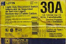 SQUARE D L211N 30 Amp Nema 1 Light Duty Safety Switch