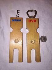 """Funny Corkscrew & Bottle Opener """"Adam & Eve"""" They """"mate"""" Look!"""