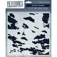 Clouds - Crafters Companion Textures Elements 8 * 8 Embossing Folder