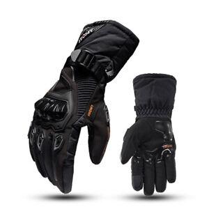 Winter Polar Force Leather Waterproof Thermal Warm Motorcycle Motorbike Gloves