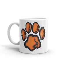 Lion Tiger Ginger Paw Print Mug Gift Ideal Kids Big Cat Mascot Boys Girls #4597