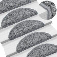 Vidaxl Tapis D'escalier 15 pcs Gris 56 x 20 cm Décorations