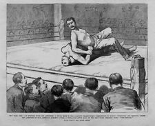 WRESTLING ATHLETES TRIAL BOUT IN THE AMATEUR CHAMPIONSHIP COMPETITION GYMNASIUM