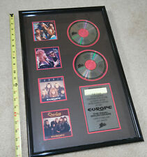 """1987 Europe """"The Final Countdown"""" Epic Record Cd Sales Award 14"""" x 21"""""""