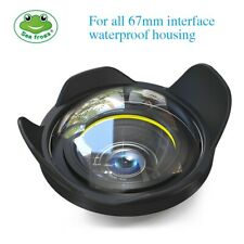 """Seafrogs 6"""" Wide Angle Wet Dome Port Lens 67mm Thread for Camera Housing Case"""