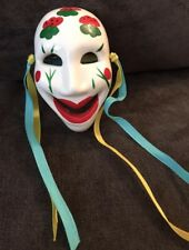 Hand-Painted Ceremic Mardi Gras Mask From New Orleans