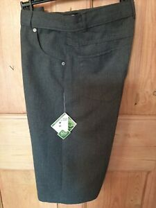 Boys grey school Shorts age 12-13 years Adjustable waist bnwt Teflon Bnwt