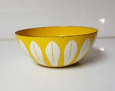 "Vintage CATHRINEHOLM Of Norway Yellow Enamel Lotus bowl 8"" across"