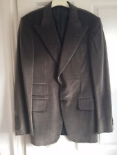Gucci Olive Green Grey Cotton Velvet Jacket By Tom Ford Worn Once EU 46F