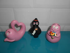 17.5.7.5 Lot 3 BARBAPAPA figurines 7cm Plastoy plastique