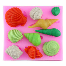 Sea Shell Seashell Silicone Cake Mold Mould Fondant Chocolate Baking Decors