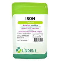 Iron 14mg 1 A DAY 3-PACK 300 Tablets Iron Ferrous Fumarate Quality Supplement